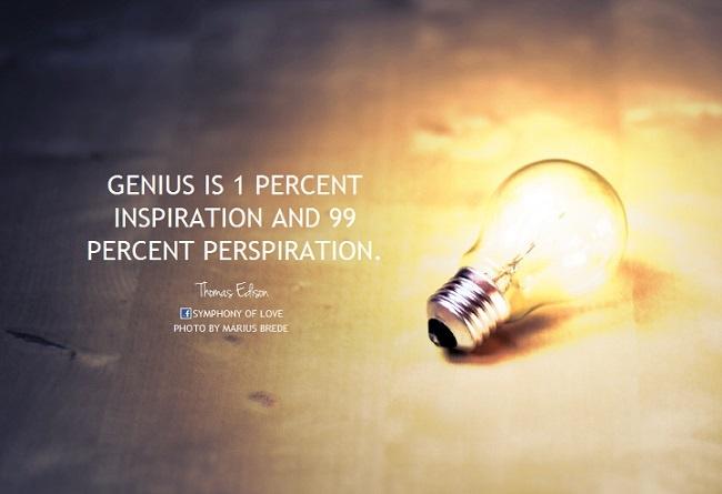 Thomas Edison inspiration perspiration quote